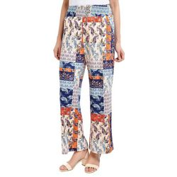 NY Collection Womens Stripe & Floral Palazzo Pants