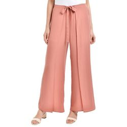 NY Collection Womens Tie-Front Palazzo Pants