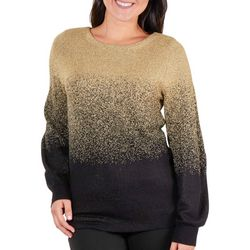 Womens Metallic Ombre Sweater