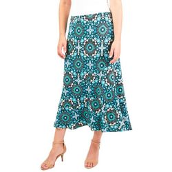 NY Collection Womens Diagonal A-Line Skirt
