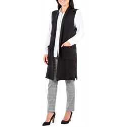 NY Collection Womens Shawl Collar Sweater Vest