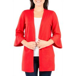 NY Collection Womens Bell Sleeve Cardigan