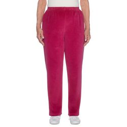 Alfred Dunner Womens Family Jewels Solid Velour Pants