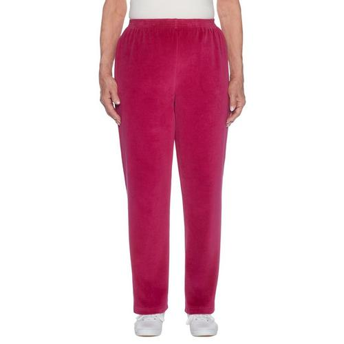74113d31c78 Alfred Dunner Womens Family Jewels Solid Velour Pants