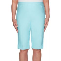 Alfred Dunner Womens Catalina Island Stretch Bermuda Shorts