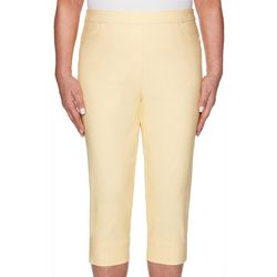 Alfred Dunner Womens Endless Weekend Clam Digger Capris