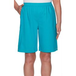 Alfred Dunner Womens Waikiki Solid Stretch Shorts