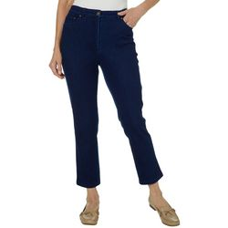 Alfred Dunner Womens Smooth Sailing Denim Pants