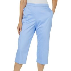 Alfred Dunner Womens Turtle Cove Pull On Capris