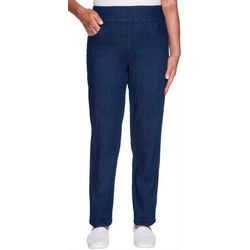 Alfred Dunner Womens Greenwich Hills Super Stretch Pants