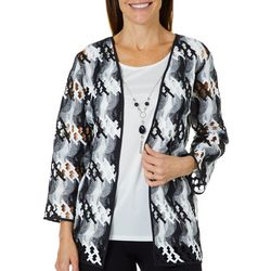 Alfred Dunner Womens Native New Yorker Abstract Duet Top