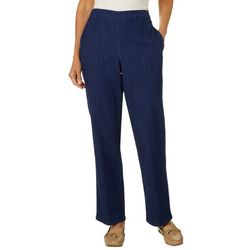 Alfred Dunner Womens Autumn Harvest Solid Pull On Pants