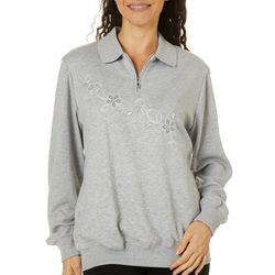 Alfred Dunner Womens All About Ease Diagonal Bouquet