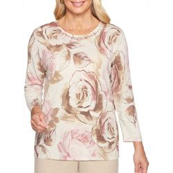 Alfred Dunner Womens Home For The Holidays Rose