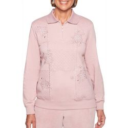 Alfred Dunner Womens Home For The Holidays Pullover Sweater