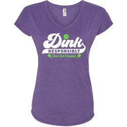 Anvil Womens Dink Responsibly Pickleball T-Shirt
