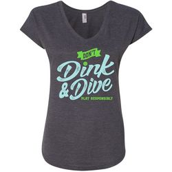 Anvil Womens Don't Dink & Dive Pickleball T-Shirt