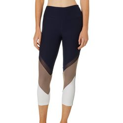 VOGO Womens Colorblock Capri Active Leggings