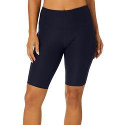 VOGO Womens Knit Solid Side Pocket Bike Shorts