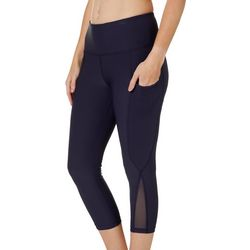 VOGO Womens Solid Moto Panel Performance Capris