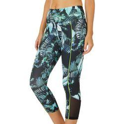 VOGO Womens Palm Print Capri Leggings