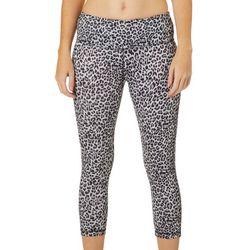 VOGO Womens Cheetah Print Capri Leggings