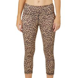 VOGO Womens Cheetah Print Capri Leggings