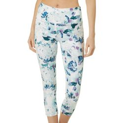 VOGO Womens Watercolor Floral Print Capri Leggings