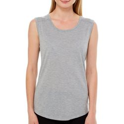 RBX Womens Solid Caged Back Tank Top