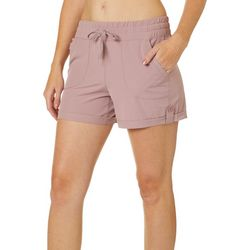 RBX Womens Roll Cuff Stretch Woven Shorts