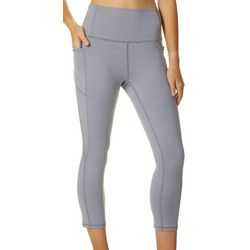 RBX Active Womens High Waist Space Dye Capri Leggings