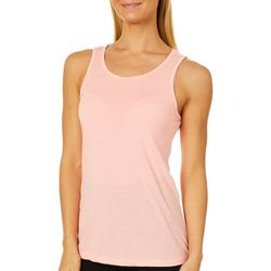 RBX Womens Heathered Caged Back Tank Top