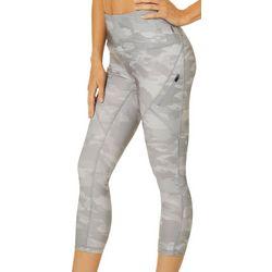 RBX Womens Camoflauge Print Capri Leggings