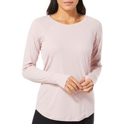 RBX Womens Solid Vented Panel Long Sleeve Top