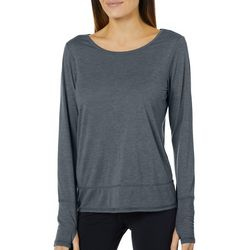 RBX Womens Heathered Open Back Long Sleeve Top