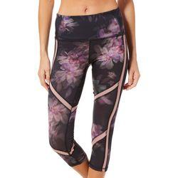 RBX Womens Floral Capri Leggings