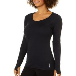 RBX Womens Solid Vented Long Sleeve Top