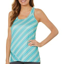 RBX Womens Stripe Print Jersey Tank Top