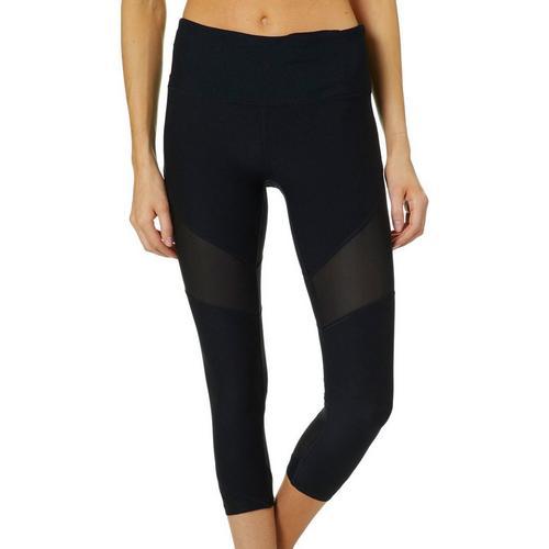 14468c90daec2 RBX Womens Solid Mesh Panel Cutout Capri Leggings | Bealls Florida
