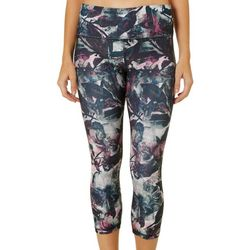 RBX Womens Floral Print Capri Leggings