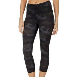 RBX Womens Peached Camo Print Capri Leggings