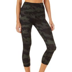 RBX Womens Camo Print Capri Leggings