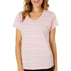 RBX Womens Striped V-Neck Top