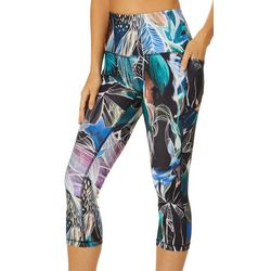 RBX Womens Tropical Print Capri Leggings