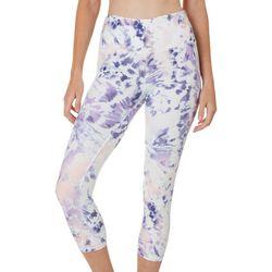RBX Womens Tie Dye Print Capri Leggings