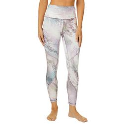 RBX Womens Moonscape Marble Print Ankle Leggings