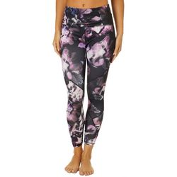 RBX Womens Watercolor Floral Print Ankle Leggings