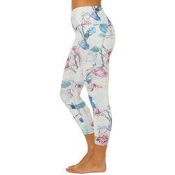 RBX Womens Moto Textured Floral Print Crop Leggings