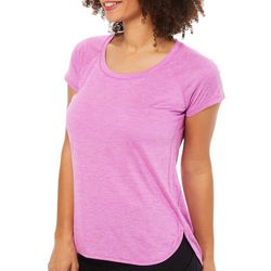 RBX Womens Striped Jersey Knit Top