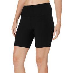 NYL Sport Womens Solid High Rise Long Bike Shorts